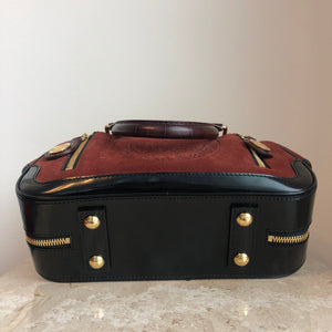 Authentic LOUIS VUITTON Suede Limited Edition Havane Stamped Trunk PM