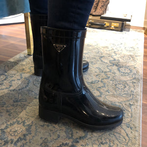Authentic PRADA Size 7 Rubber Boots MM