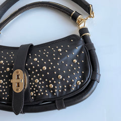 Authentic BURBERRY Studded Shoulder Bag
