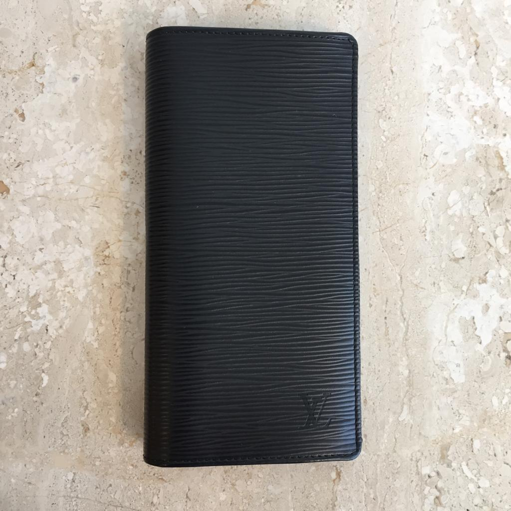 Authentic LOUIS VUITTON Brazza Black Epi Wallet