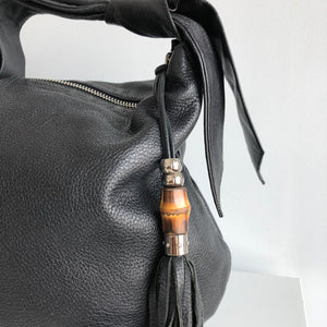Authentic GUCCI Jungle Bamboo Hobo Leather Bag