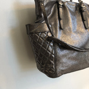 Authentic JIMMY CHOO Blare Metallic Tote