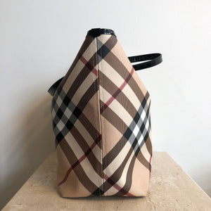 Authentic BURBERRY Large Canvas Check Tote