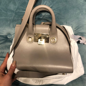 Authentic JIMMY CHOO Grey Leather/Suede Handbag