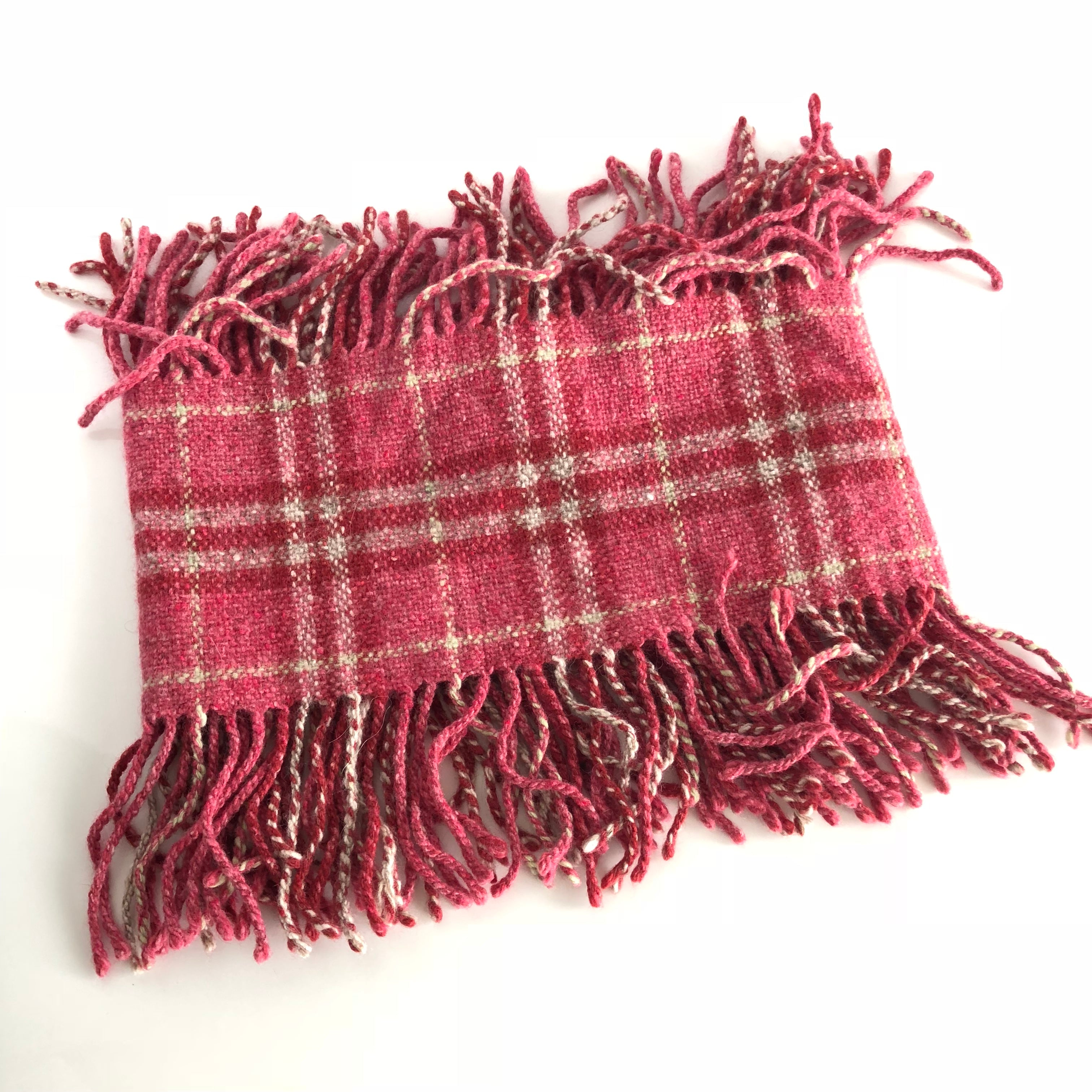 Authentic BURBERRY fringe Pink scarf