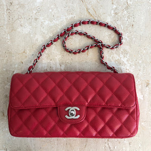 Authentic CHANEL East West Caviar Shoulder Bag