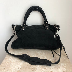 Authentic BALENCIAGA Black Suede Bag