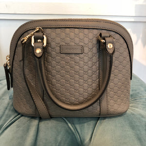 7b4422dcb91 Authentic GUCCI Grey Guccissima Alma Shoulder Bag – Valamode