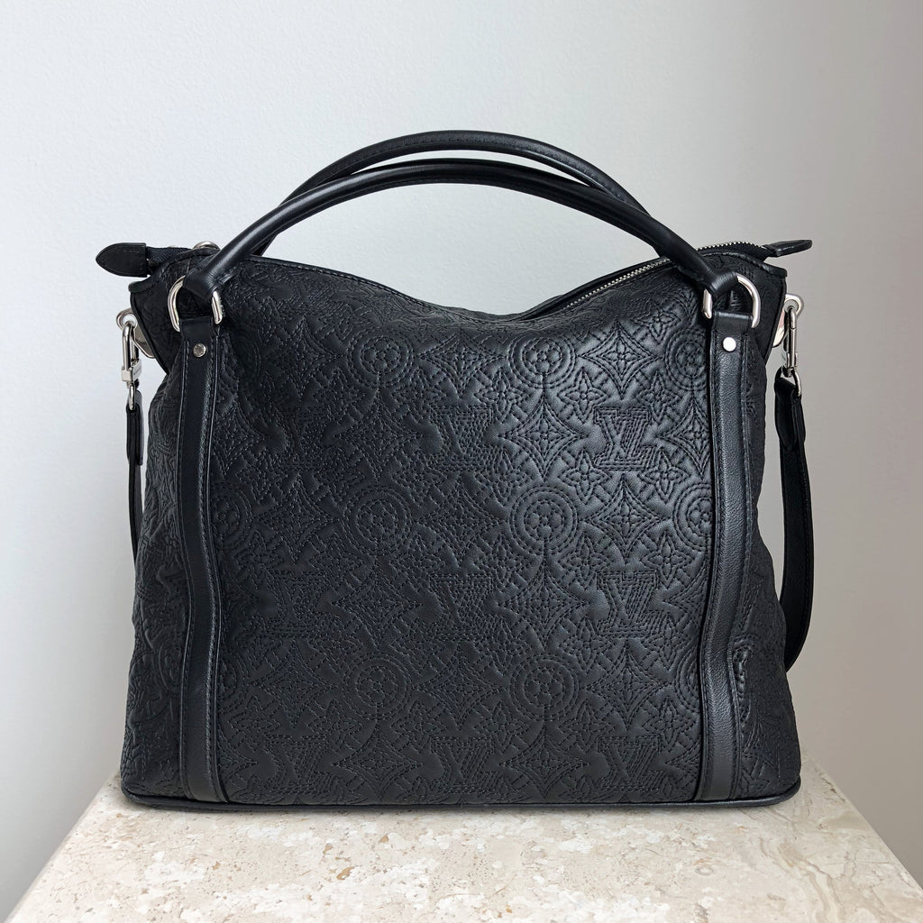 Authentic LOUIS VUITTON Antheia IXIA PM Black Handbag