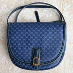 Authentic GUCCI Vintage Navy Crossbody