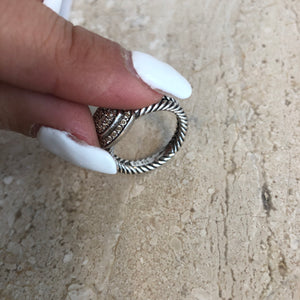 Authentic DAVID YURMAN Petite Albion Diamond Ring Size 7