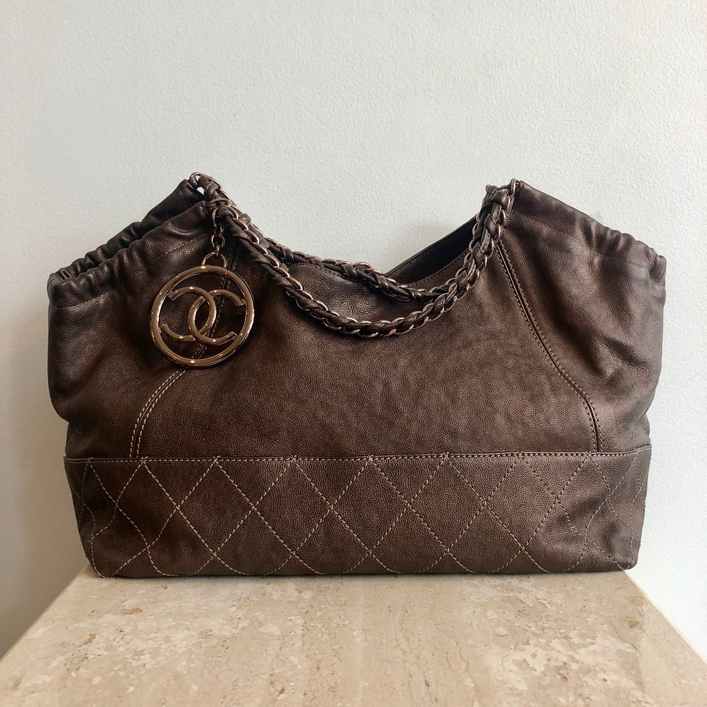 Authentic CHANEL Coco Baby Cabas Hobo Bag