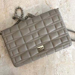Authentic KATE SPADE Quilted Taupe Crossbody Handbag