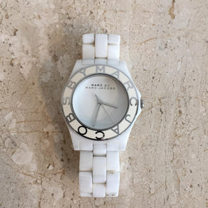 Authentic MARC BY MARC JACOBS White Ceramic Watch