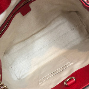 Authentic GUCCI Red Soho Tote