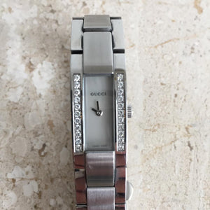 Authentic GUCCI Stainless Steel and Diamond Womens Watch
