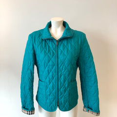 Authentic BURBERRY Blue Quilted Jacket