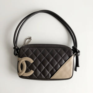 Authentic CHANEL Brown Cambon Pochette
