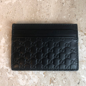 Authentic GUCCI Black Leather Card Holder