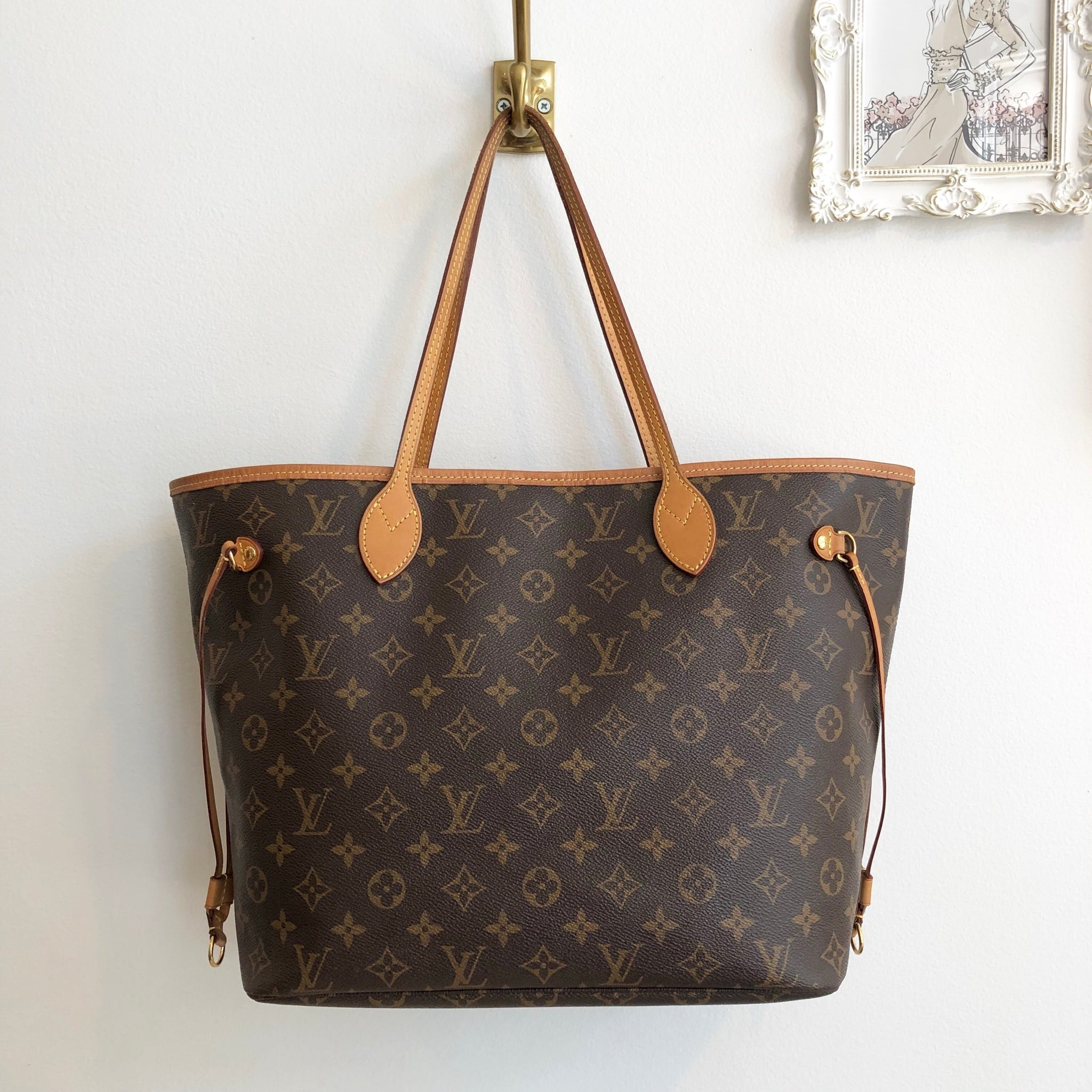 Authentic LOUIS VUITTON Monogram Neverfull MM Pivione