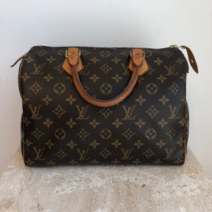 Authentic LOUIS VUITTON Monogram Speedy 30 AA0024