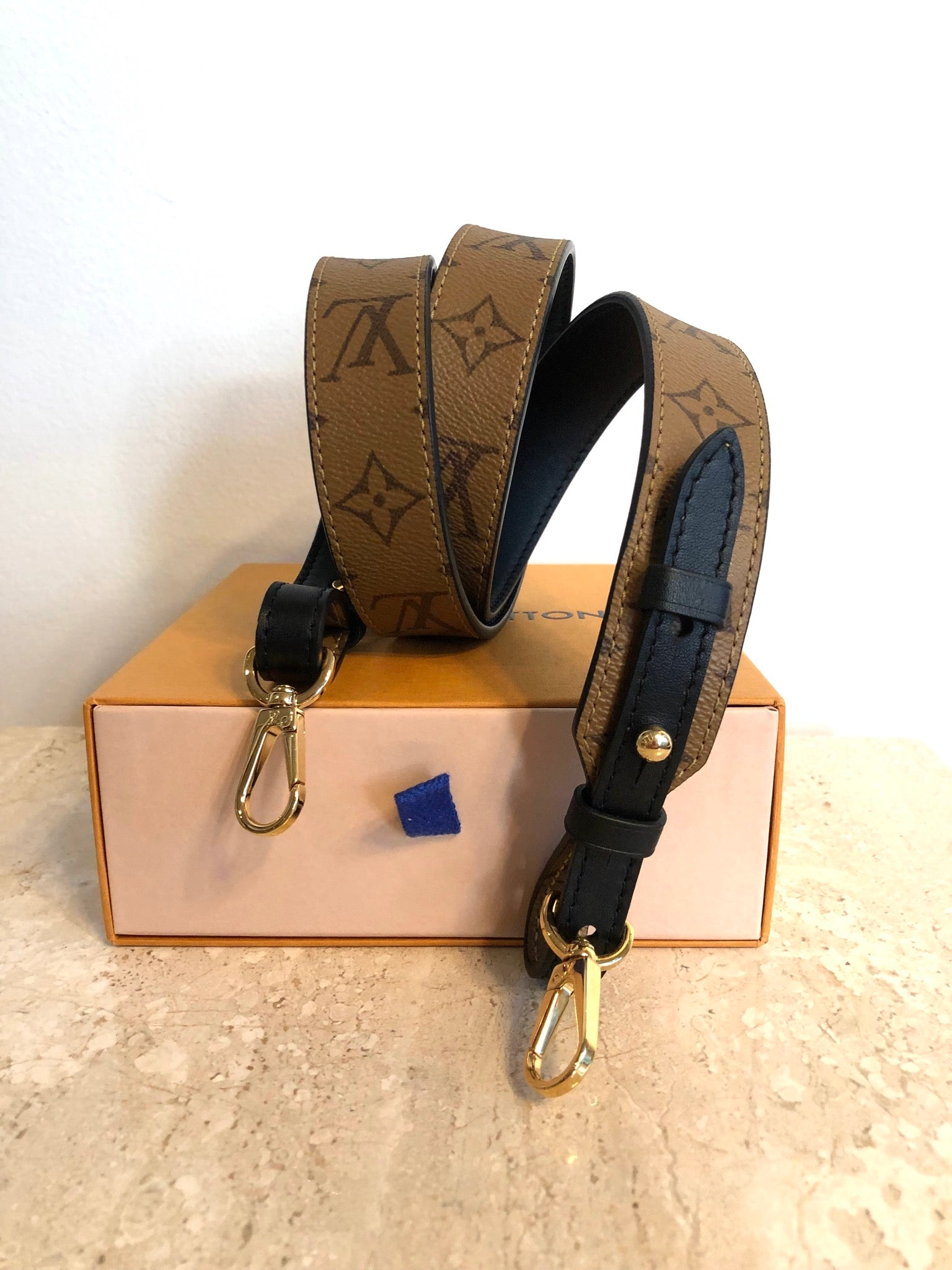 Authentic LOUIS VUITTON Bandolier Reversible XL Strap
