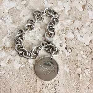 Authentic TIFFANY & CO 1837 Round Tag Bracelet