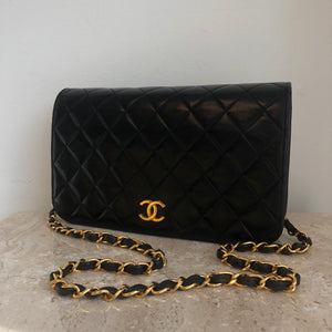 Authentic CHANEL Medium Clutch With Chain 9""