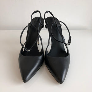 Authentic ALEXANDER WANG Black Slingback Shoes Size 7.5