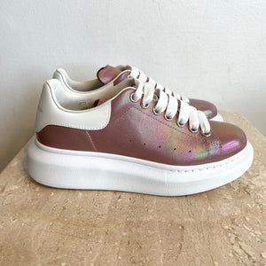 Authentic ALEXANDER MCQUEEN Pink Iridescent Sneakers - 7
