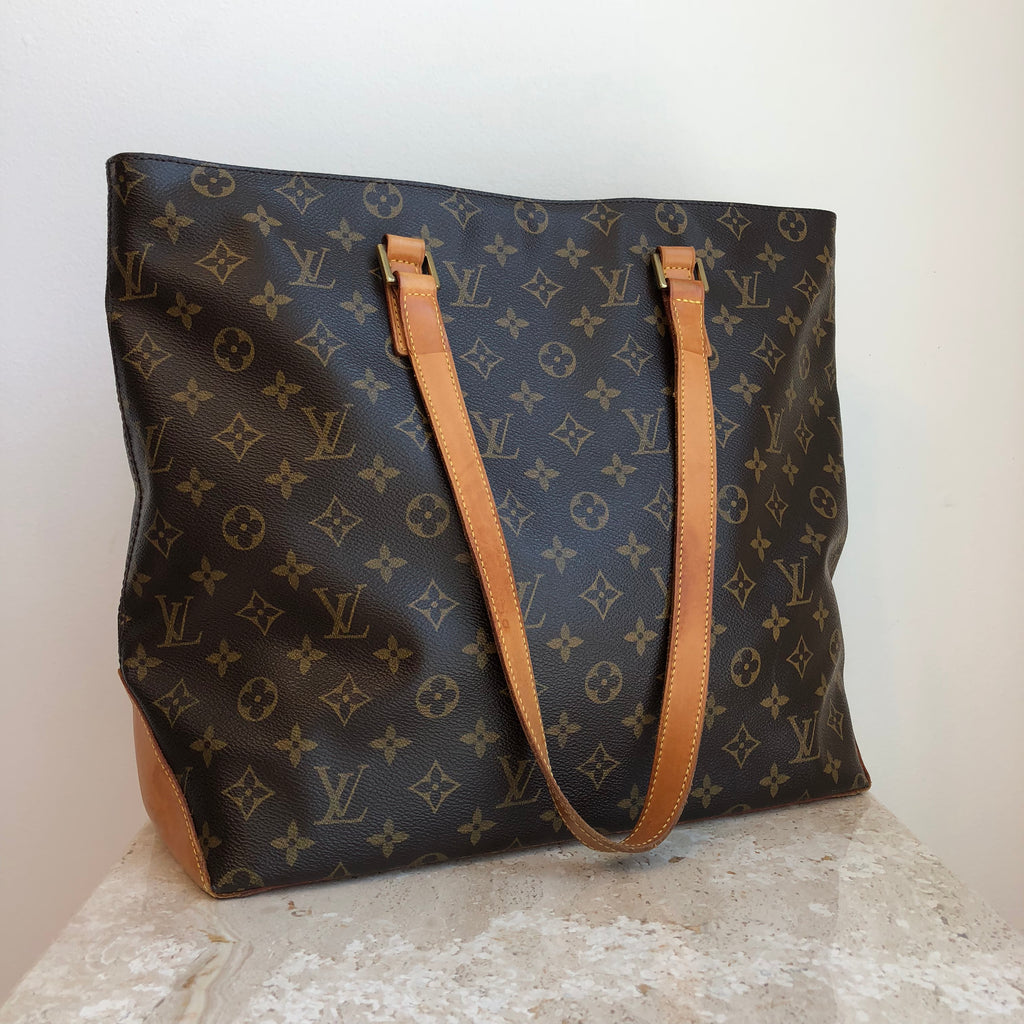 1757ae400651 Authentic LOUIS VUITTON Monogram Mezzo Cabas Tote THOO72