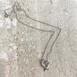 Authentic TIFFANY & CO. Small Sterling Silver Loving Heart Necklace