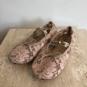 Authentic VALENTINO Blush Lace - 7.5 - Ballet Flat