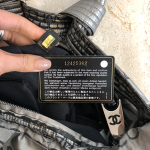 Authentic CHANEL Silver Rue Cambon Unlimited Crossbody