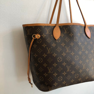 Authentic LOUIS VUITTON Monogram Neverfull Abricot