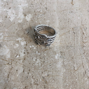Authentic DAVID YURMAN Confetti Black Diamond Ring 8