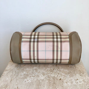 Authentic BURBERRY Pink Novacheck Lola bag