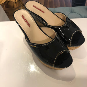 Authentic PRADA Wedges 38