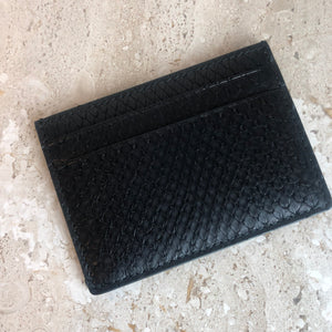 Authentic GUCCI Black Python Card Holder