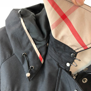 Authentic BURBERRY Black Rain Coat