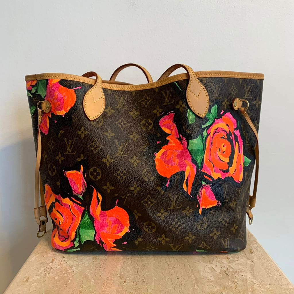 Authentic LOUIS VUITTON Sprouse Neverfull Roses MM