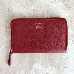71019a74dd46 Authentic GUCCI Swing Wallet Red Leather – Valamode