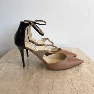Authentic JIMMY CHOO Tan & Black Size 6.5 Shoes