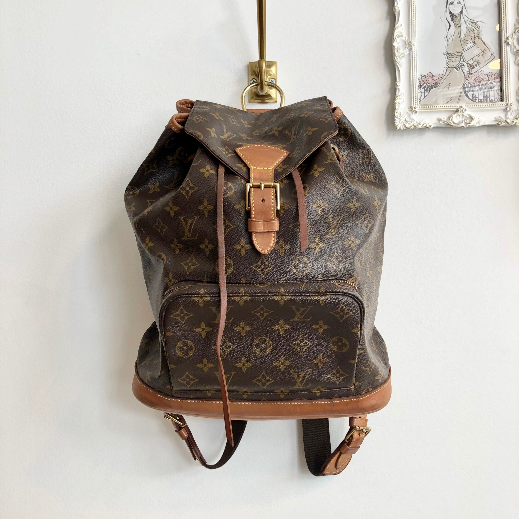 Authentic LOUIS VUITTON Montsouris GM Backpack