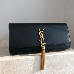 Authentic YVES SAINT LAURENT Kate Tassel Clutch