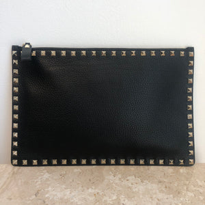 Authentic VALENTINO Black Rockstud Clutch