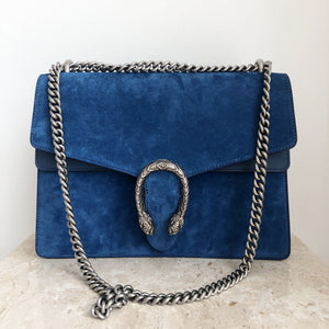 Authentic GUCCI Medium Suede Dionysus Bag