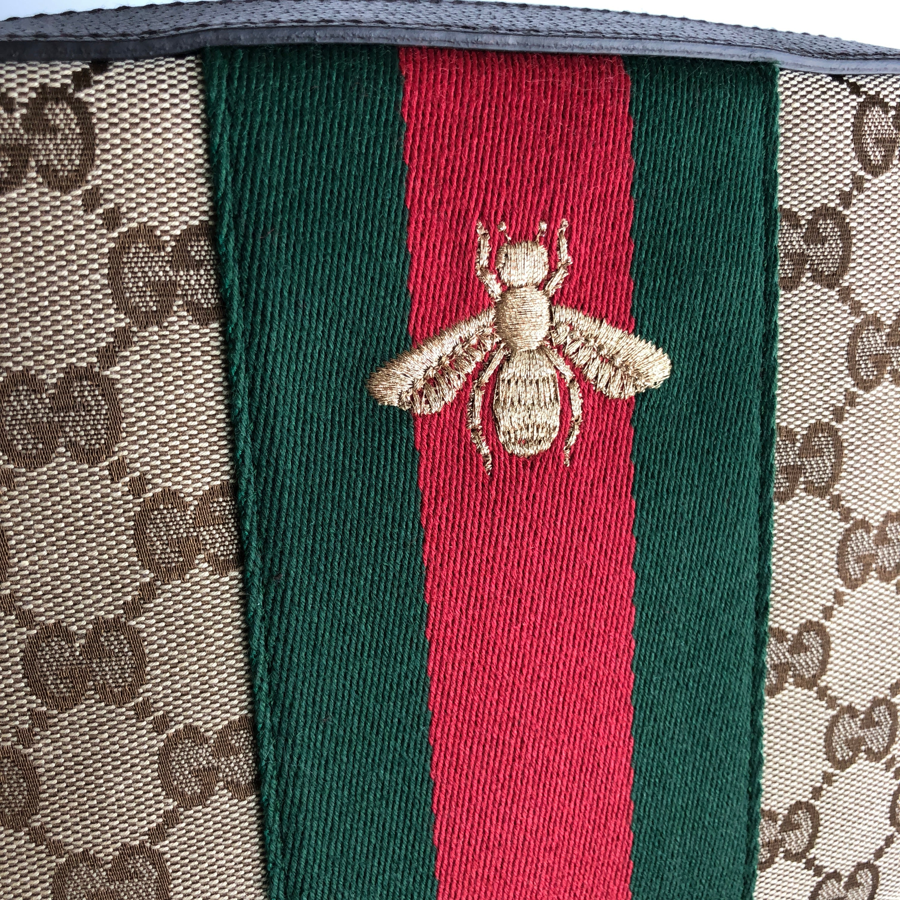 Authentic GUCCI Webby Monogram Shoulder Bag