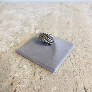 Athentic TIFFANY & Co. Somerset Mesh Ring - Size 6.5