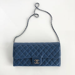 Authentic CHANEL Blue Patent Bag